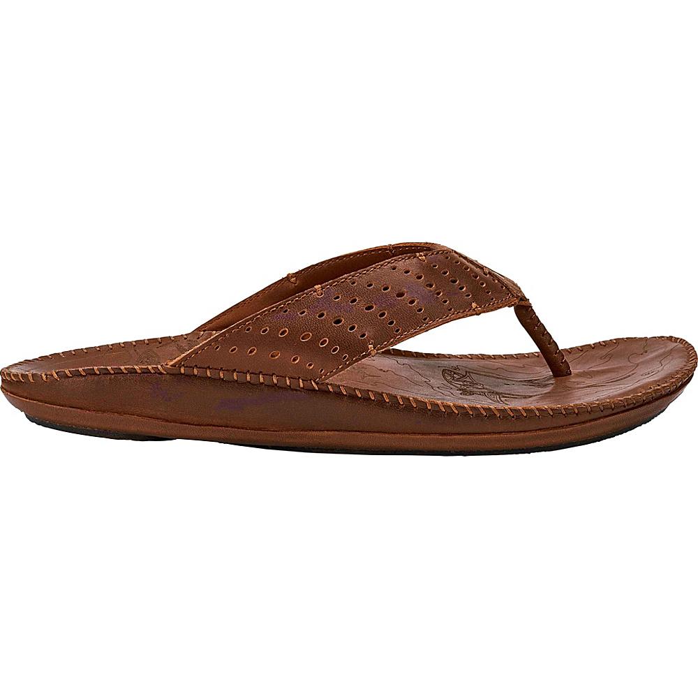 OluKai Mens Hoe Sandal 7 - Dark Wood/Toffee - OluKai Mens Footwear - Apparel & Footwear, Men's Footwear
