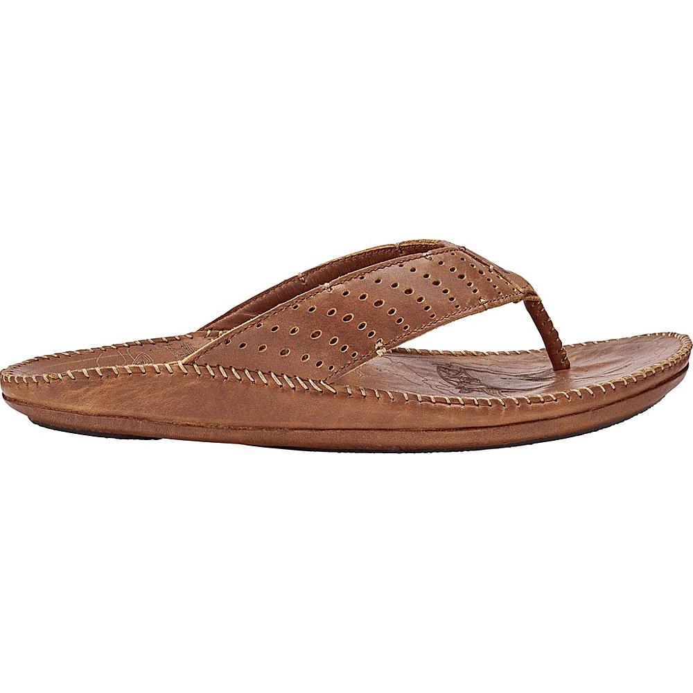 OluKai Mens Hoe Sandal 8 - Rum/Rum - OluKai Mens Footwear - Apparel & Footwear, Men's Footwear
