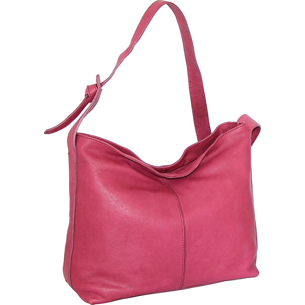 Nino Bossi Gwynn Shoulder Bag Fuchsia - Nino Bossi Leather Handbags - Handbags, Leather Handbags