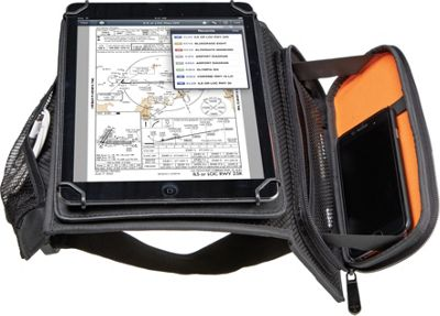 Flight Outfitters iPad Kneeboard Black/Orange - Flight Outfitters Electronic Cases