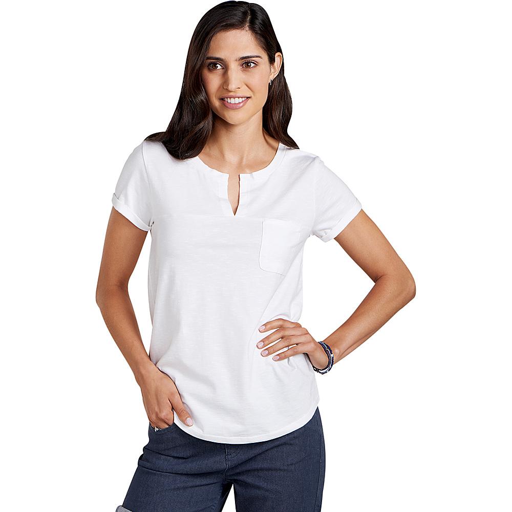 Toad & Co Womens Sambasta Short Sleeve Tee S - White - Toad & Co Womens Apparel - Apparel & Footwear, Women's Apparel