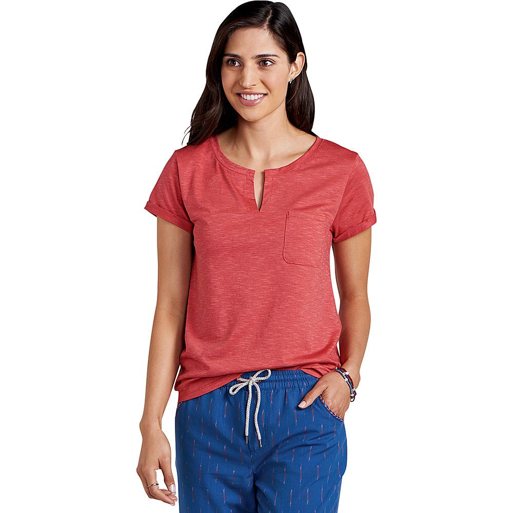 Toad & Co Womens Sambasta Short Sleeve Tee XS - Rhubarb - Toad & Co Womens Apparel - Apparel & Footwear, Women's Apparel