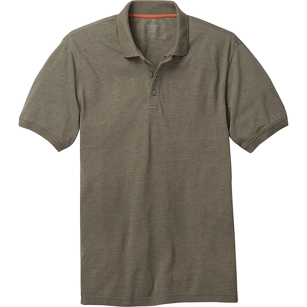 Toad & Co Mens Caddywood Polo S - Thyme - Toad & Co Mens Apparel - Apparel & Footwear, Men's Apparel