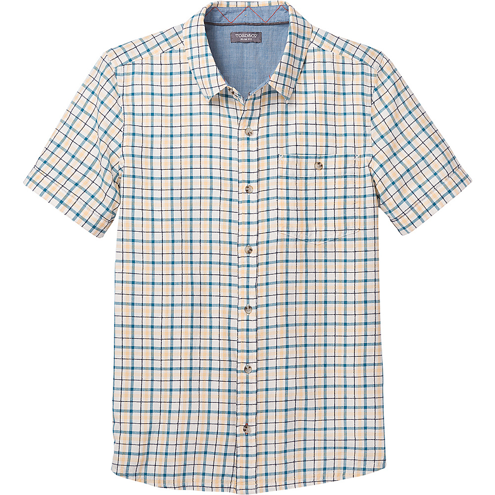 Toad & Co Mens Airlift Short Sleeve Slim Shirt M - Salt - Toad & Co Mens Apparel - Apparel & Footwear, Men's Apparel