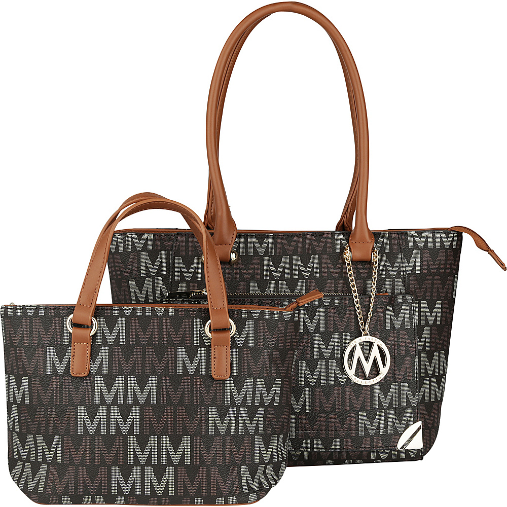 MKF Collection by Mia K. Farrow Lady M Signature Tote Set Brown - MKF Collection by Mia K. Farrow Manmade Handbags - Handbags, Manmade Handbags