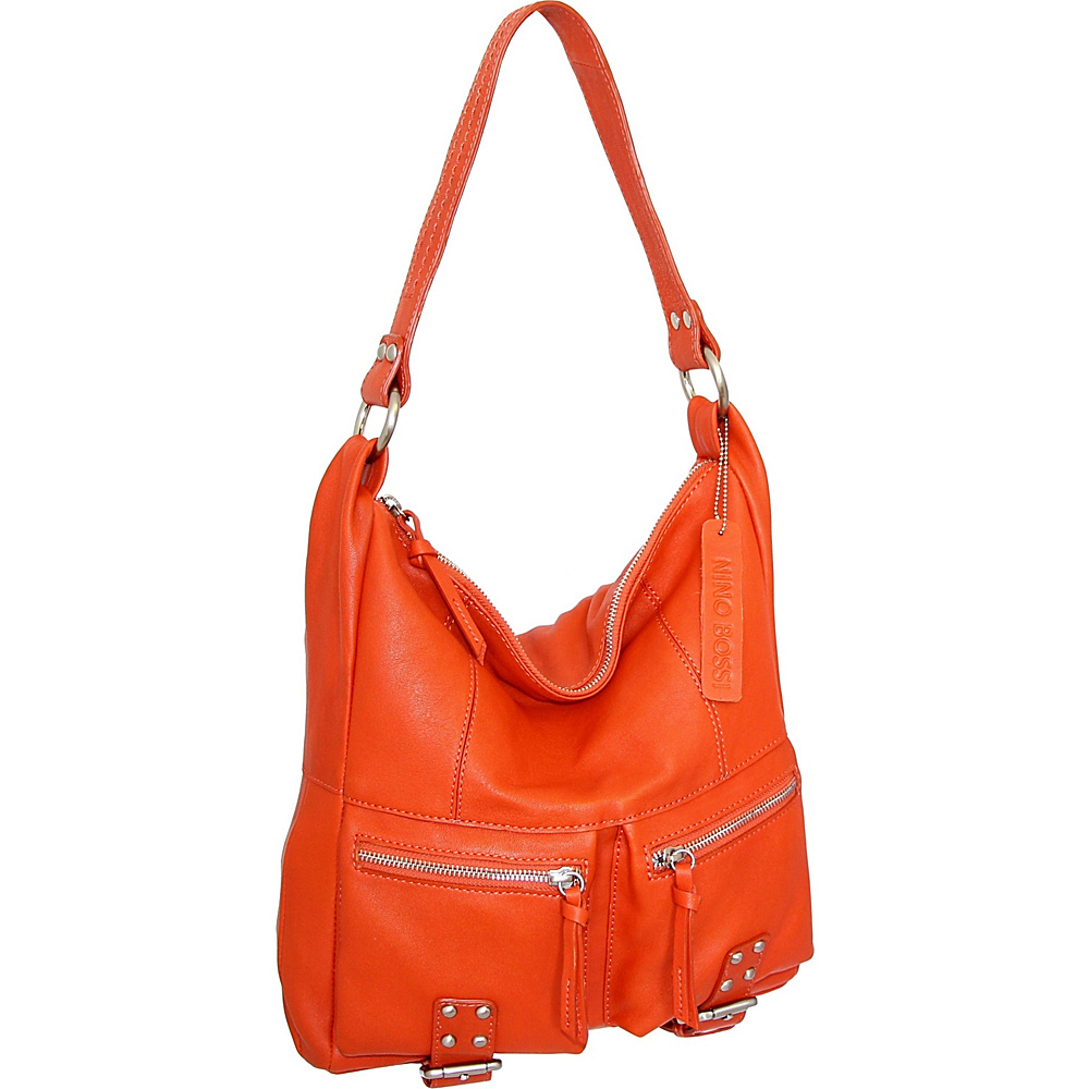 Nino Bossi Amelia Shoulder Bag Tangerine - Nino Bossi Leather Handbags - Handbags, Leather Handbags