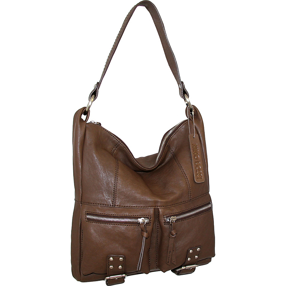 Nino Bossi Amelia Shoulder Bag Brown - Nino Bossi Leather Handbags - Handbags, Leather Handbags