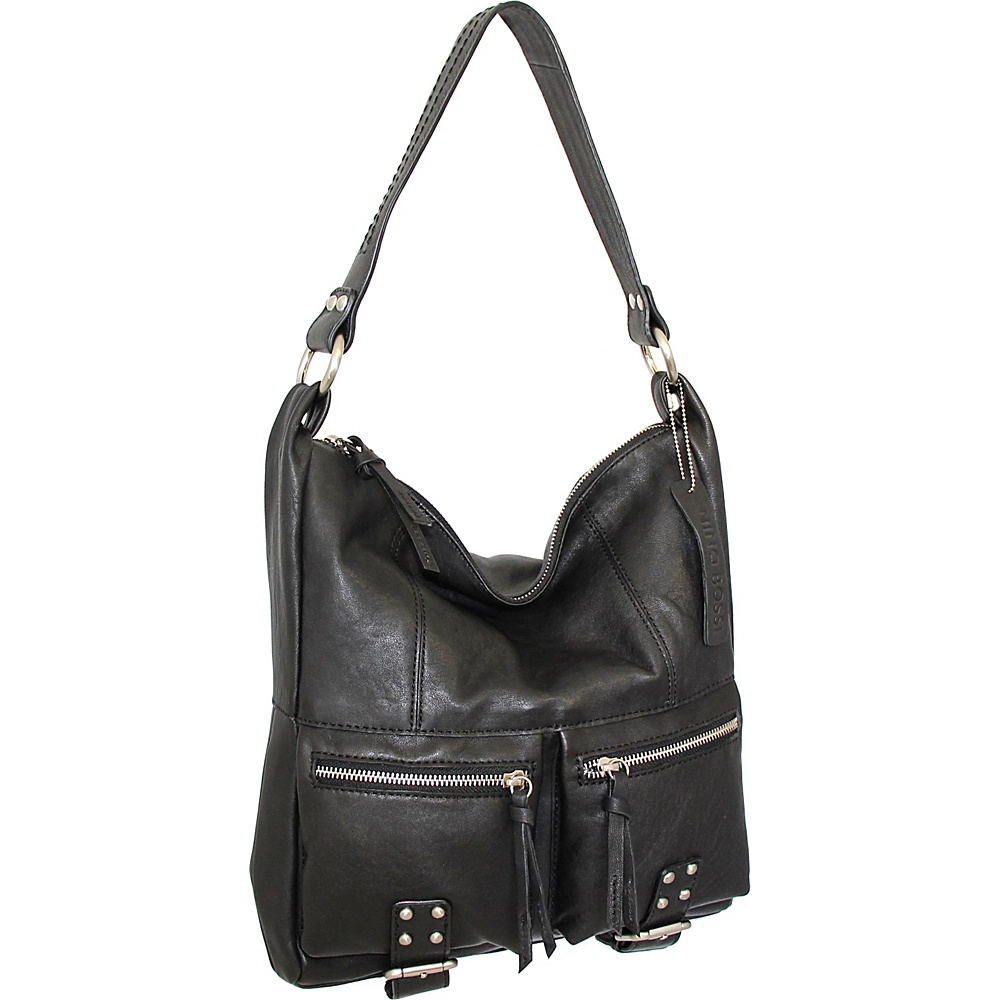 Nino Bossi Amelia Shoulder Bag Black - Nino Bossi Leather Handbags - Handbags, Leather Handbags