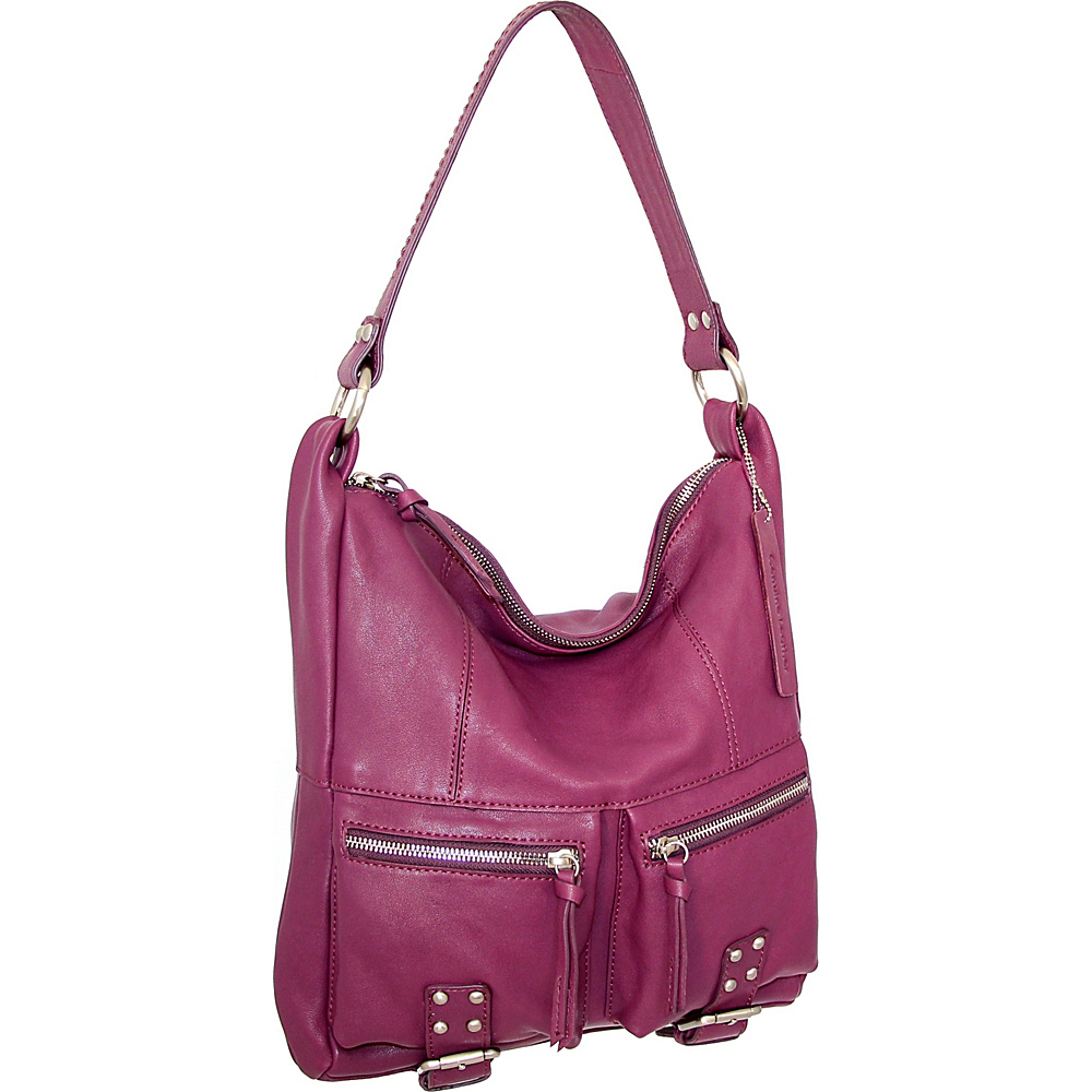 Nino Bossi Amelia Shoulder Bag Plum - Nino Bossi Leather Handbags - Handbags, Leather Handbags