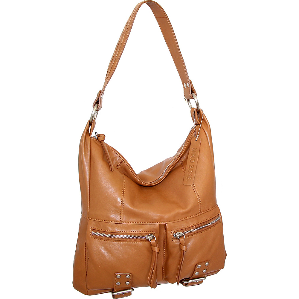 Nino Bossi Amelia Shoulder Bag Cognac - Nino Bossi Leather Handbags - Handbags, Leather Handbags
