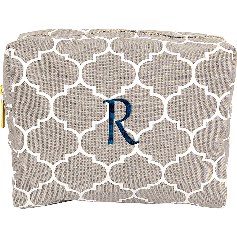 Cathys Concepts Monogram Cosmetic Bag Grey - R - Cathys Concepts Toiletry Kits - Travel Accessories, Toiletry Kits
