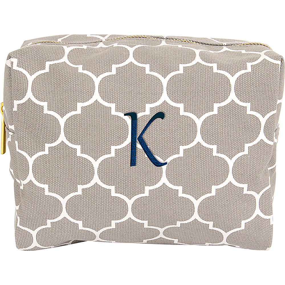 Cathys Concepts Monogram Cosmetic Bag Grey - K - Cathys Concepts Toiletry Kits - Travel Accessories, Toiletry Kits