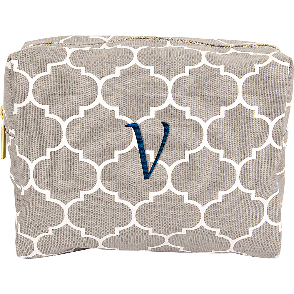 Cathys Concepts Monogram Cosmetic Bag Grey - V - Cathys Concepts Toiletry Kits - Travel Accessories, Toiletry Kits