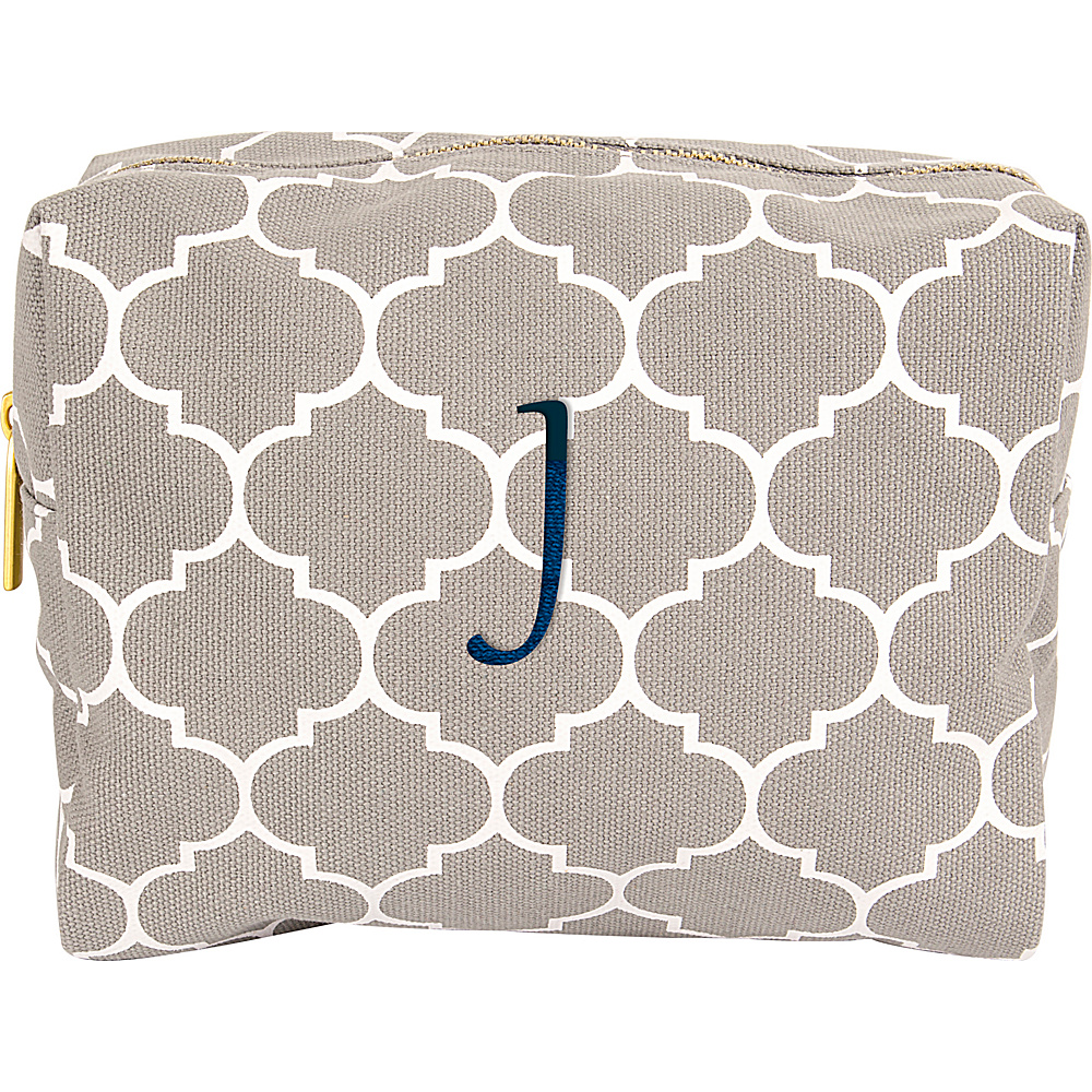 Cathys Concepts Monogram Cosmetic Bag Grey - J - Cathys Concepts Toiletry Kits - Travel Accessories, Toiletry Kits