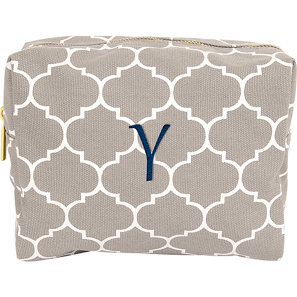Cathys Concepts Monogram Cosmetic Bag Grey - Y - Cathys Concepts Toiletry Kits - Travel Accessories, Toiletry Kits