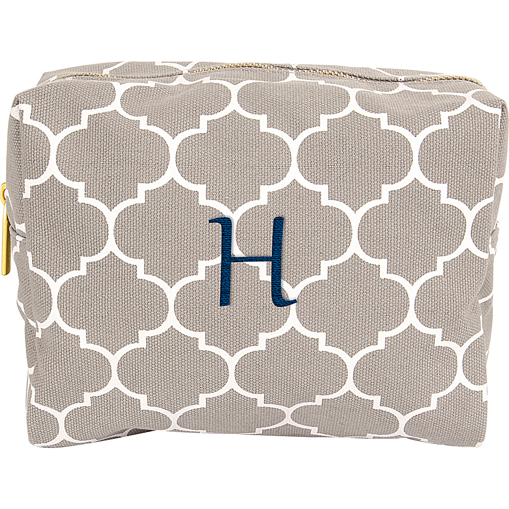 Cathys Concepts Monogram Cosmetic Bag Grey - H - Cathys Concepts Toiletry Kits - Travel Accessories, Toiletry Kits