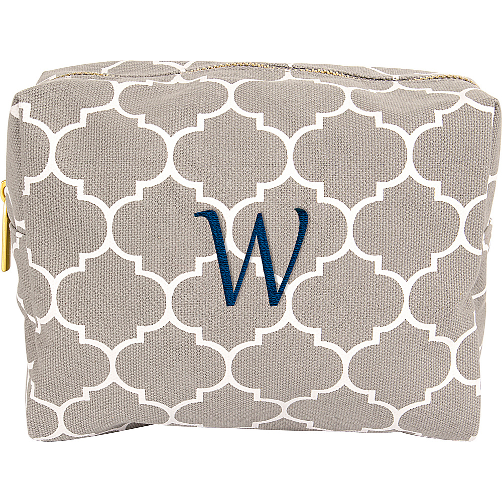 Cathys Concepts Monogram Cosmetic Bag Grey - W - Cathys Concepts Toiletry Kits - Travel Accessories, Toiletry Kits