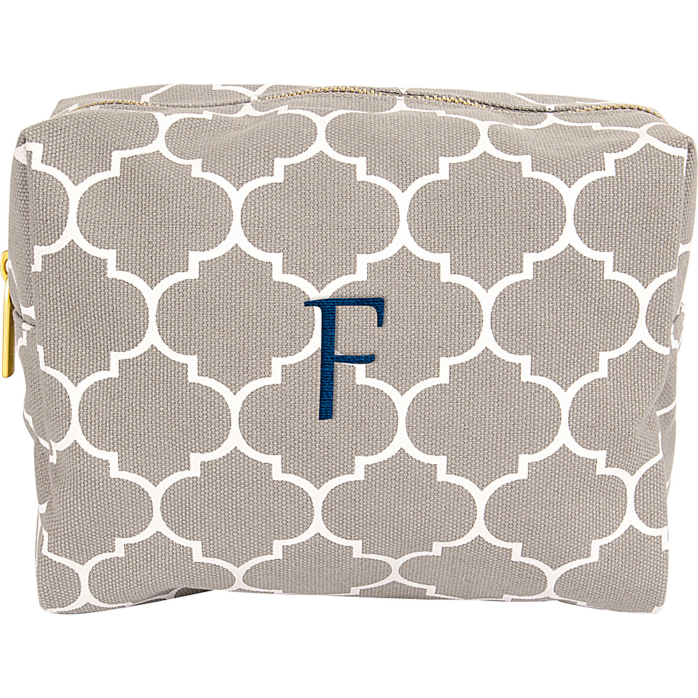 Cathys Concepts Monogram Cosmetic Bag Grey - F - Cathys Concepts Toiletry Kits - Travel Accessories, Toiletry Kits