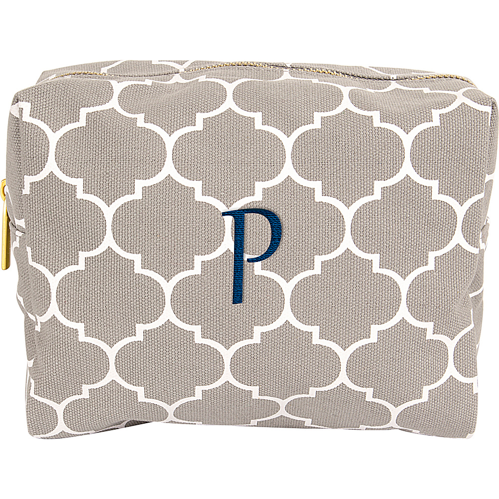 Cathys Concepts Monogram Cosmetic Bag Grey - P - Cathys Concepts Toiletry Kits - Travel Accessories, Toiletry Kits