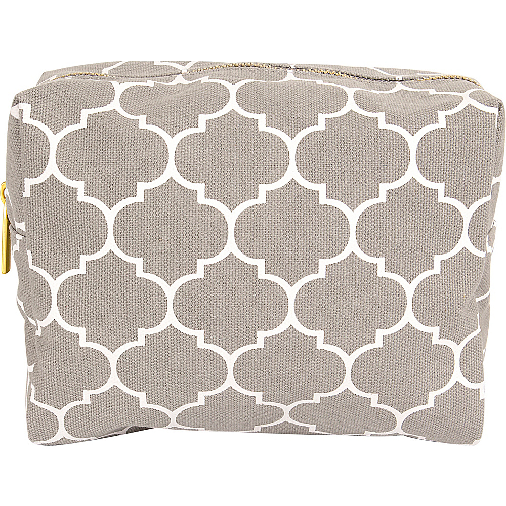 Cathys Concepts Monogram Cosmetic Bag Grey Plain - Cathys Concepts Toiletry Kits - Travel Accessories, Toiletry Kits