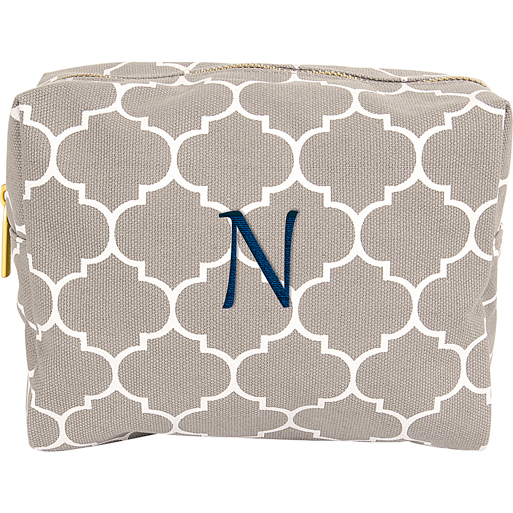 Cathys Concepts Monogram Cosmetic Bag Grey - N - Cathys Concepts Toiletry Kits - Travel Accessories, Toiletry Kits