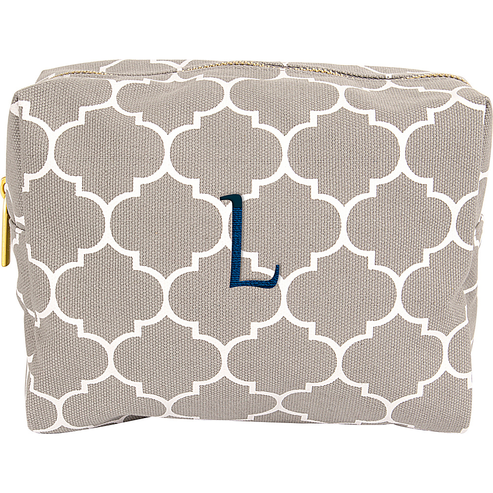 Cathys Concepts Monogram Cosmetic Bag Grey - L - Cathys Concepts Toiletry Kits - Travel Accessories, Toiletry Kits
