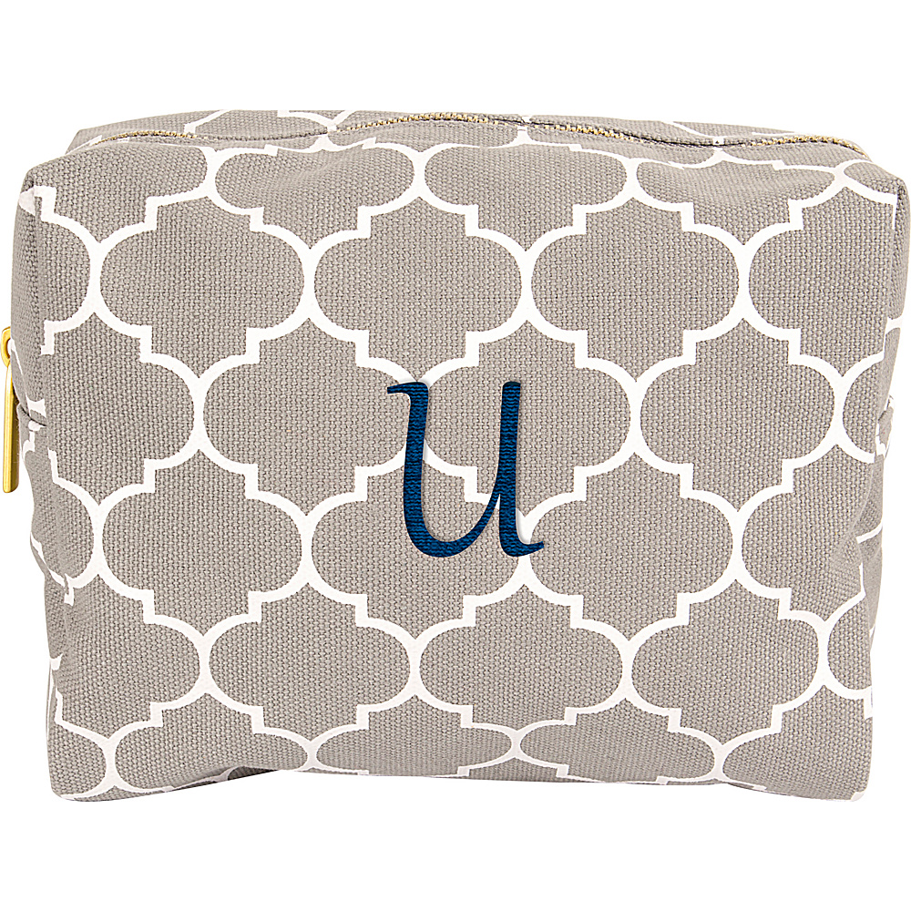 Cathys Concepts Monogram Cosmetic Bag Grey - U - Cathys Concepts Toiletry Kits - Travel Accessories, Toiletry Kits