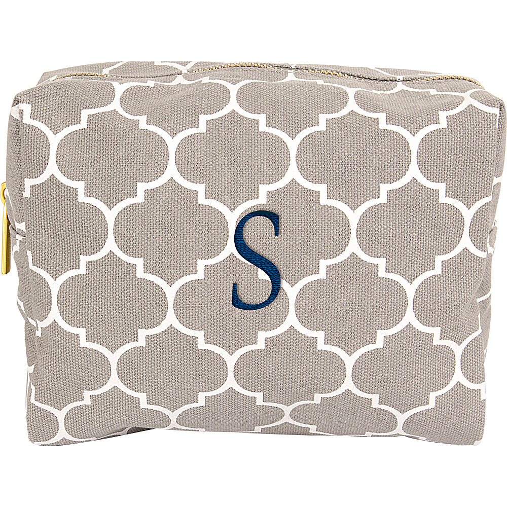 Cathys Concepts Monogram Cosmetic Bag Grey - S - Cathys Concepts Toiletry Kits - Travel Accessories, Toiletry Kits
