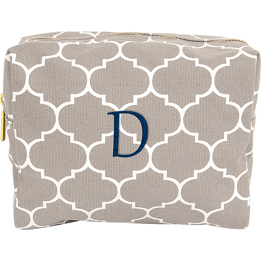 Cathys Concepts Monogram Cosmetic Bag Grey - D - Cathys Concepts Toiletry Kits - Travel Accessories, Toiletry Kits