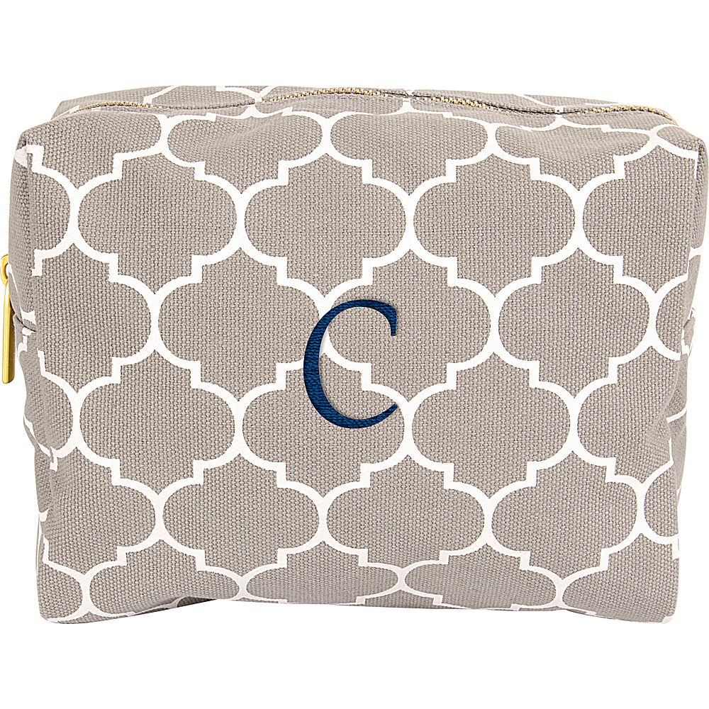 Cathys Concepts Monogram Cosmetic Bag Grey - C - Cathys Concepts Toiletry Kits - Travel Accessories, Toiletry Kits