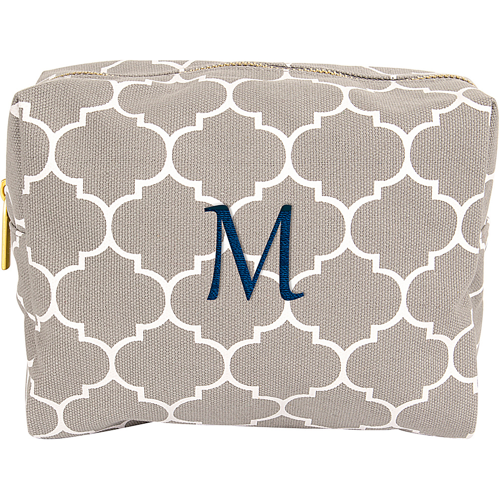 Cathys Concepts Monogram Cosmetic Bag Grey - M - Cathys Concepts Toiletry Kits - Travel Accessories, Toiletry Kits