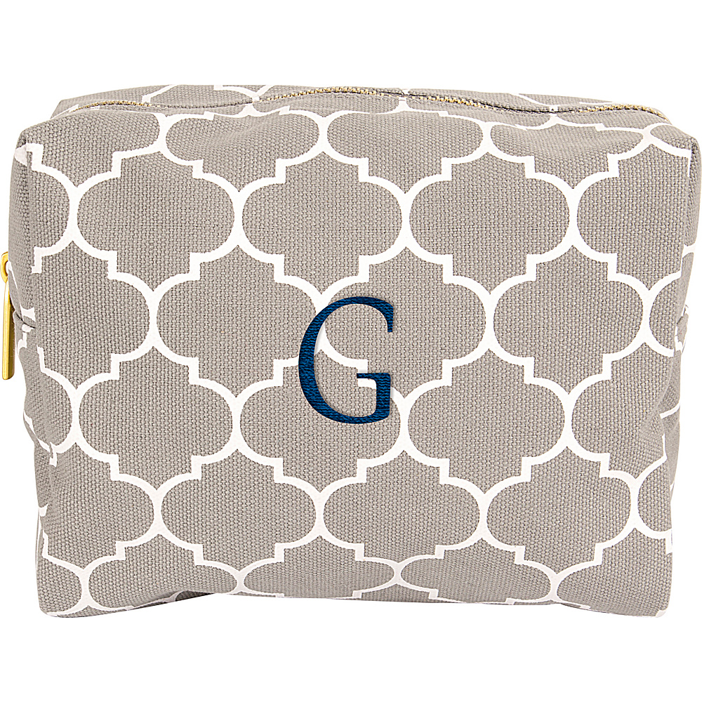 Cathys Concepts Monogram Cosmetic Bag Grey - G - Cathys Concepts Toiletry Kits - Travel Accessories, Toiletry Kits