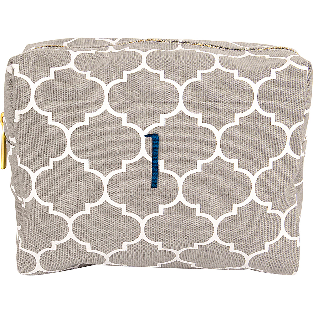 Cathys Concepts Monogram Cosmetic Bag Grey - I - Cathys Concepts Toiletry Kits - Travel Accessories, Toiletry Kits