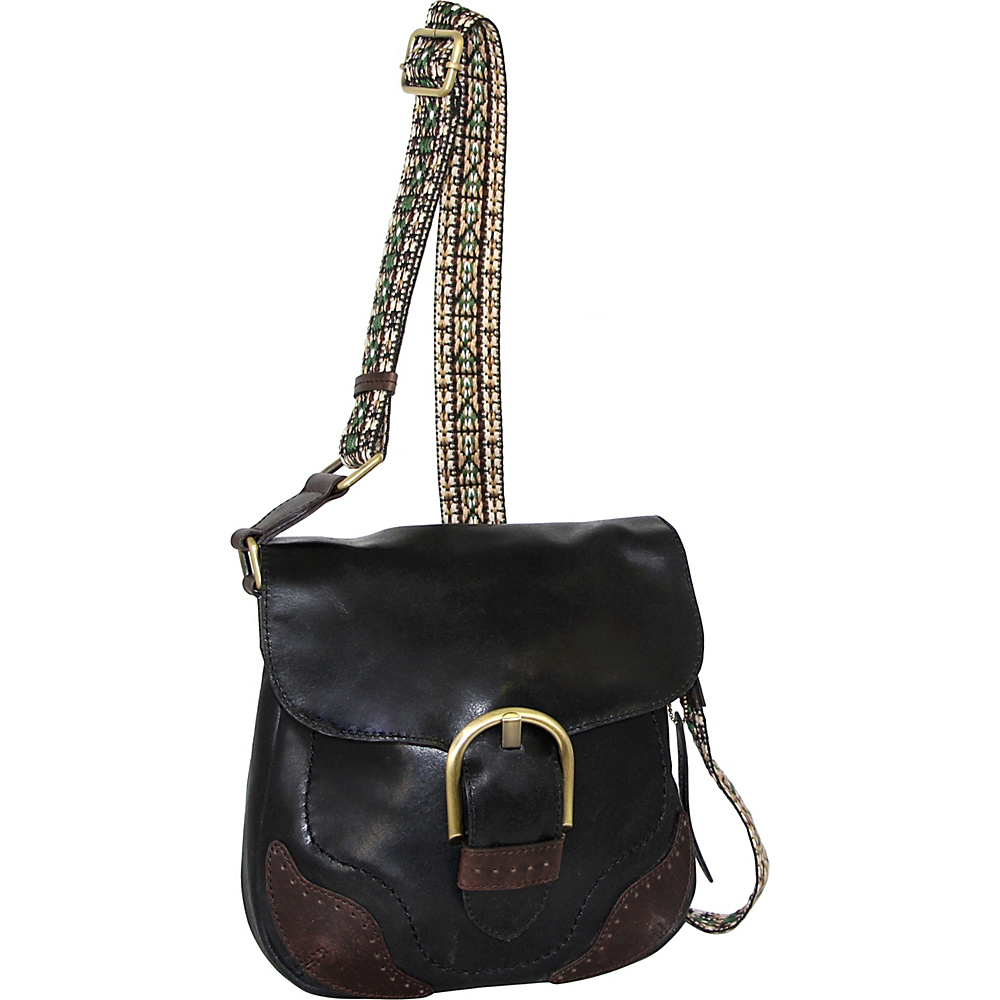 Nino Bossi Acacia Crossbody Black - Nino Bossi Leather Handbags - Handbags, Leather Handbags
