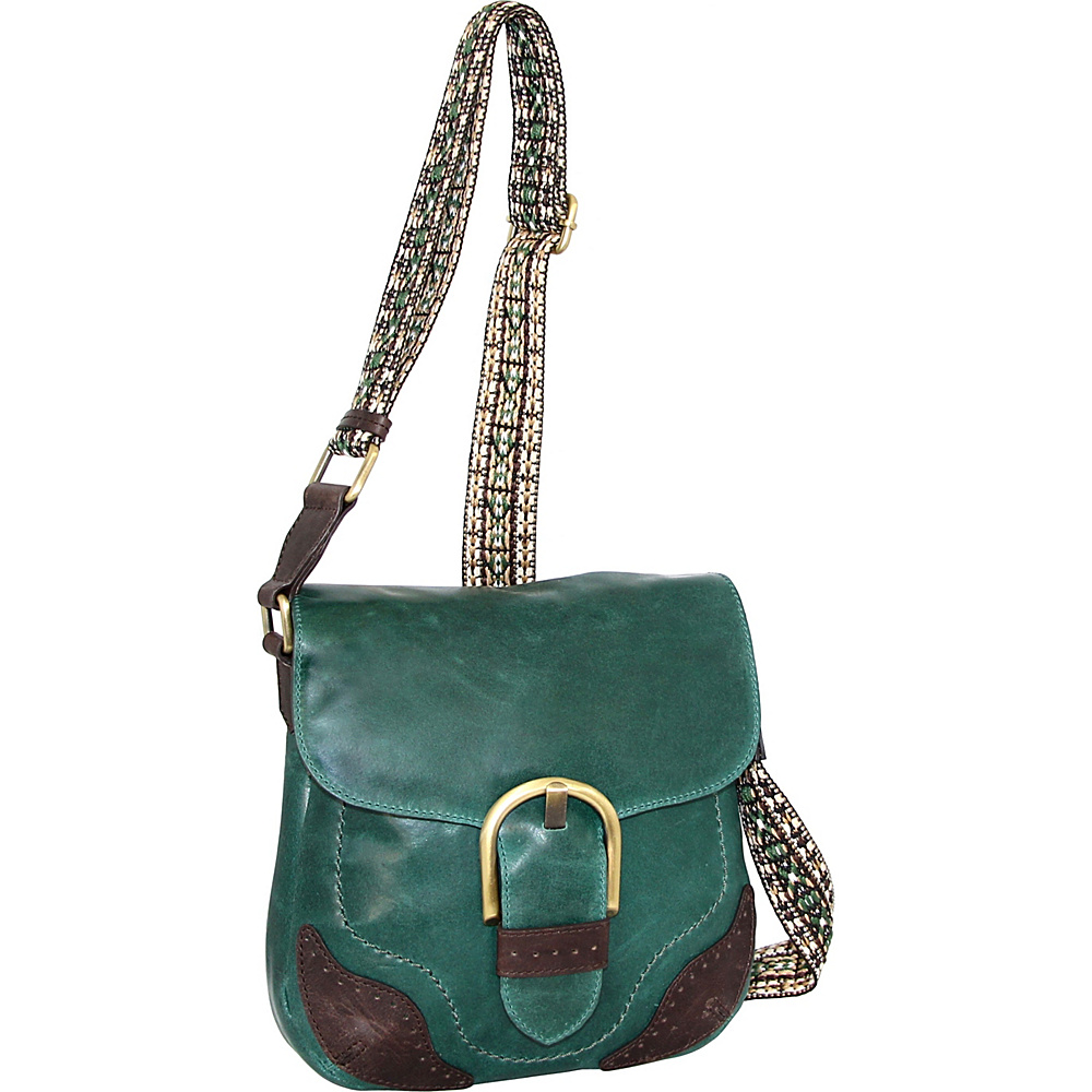 Nino Bossi Acacia Crossbody Green - Nino Bossi Leather Handbags - Handbags, Leather Handbags