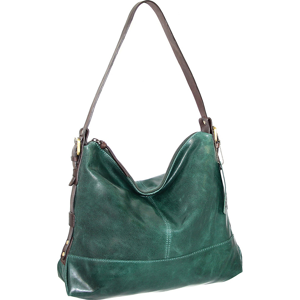 Nino Bossi Fatima Shoulder Bag Green - Nino Bossi Leather Handbags - Handbags, Leather Handbags