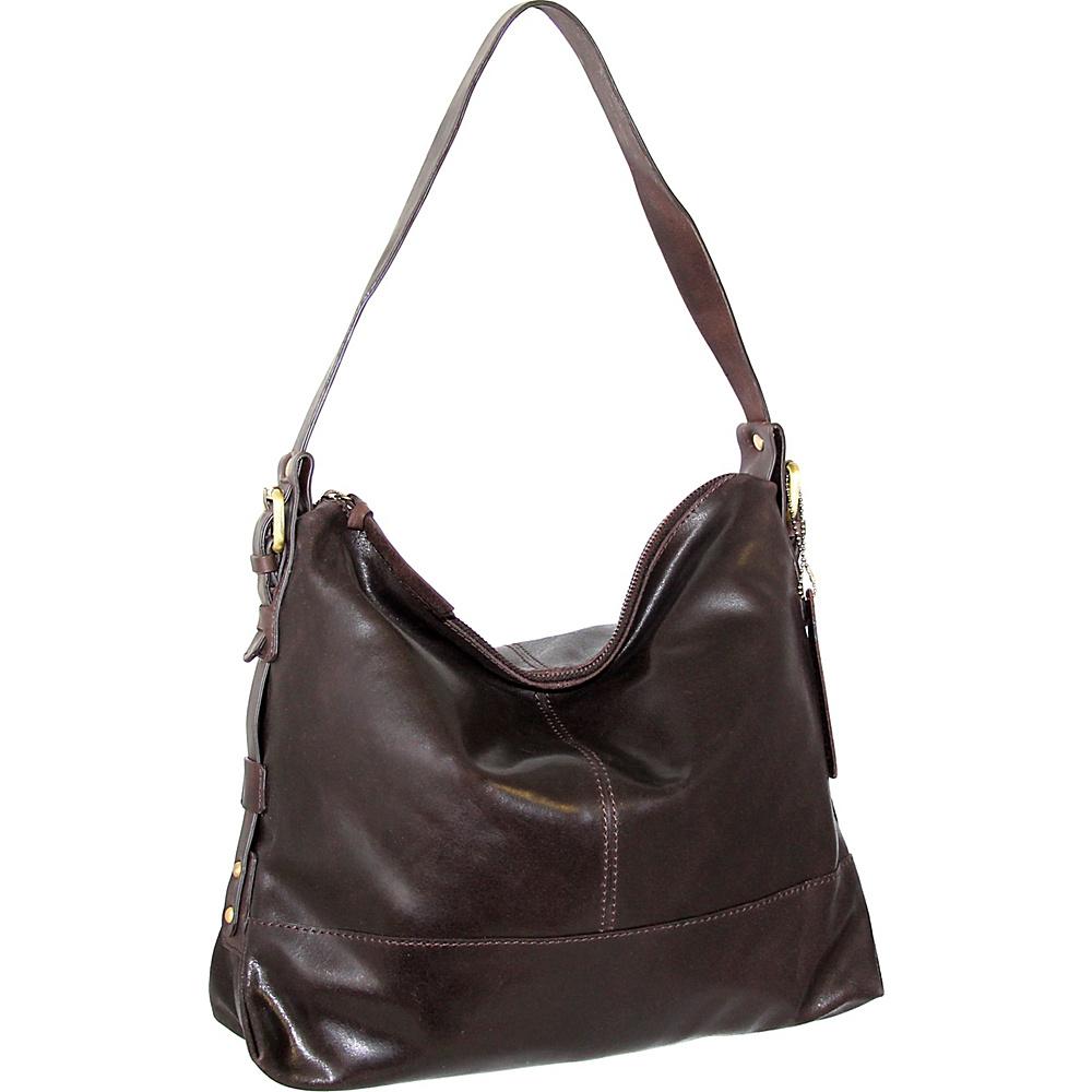 Nino Bossi Fatima Shoulder Bag Brown - Nino Bossi Leather Handbags - Handbags, Leather Handbags