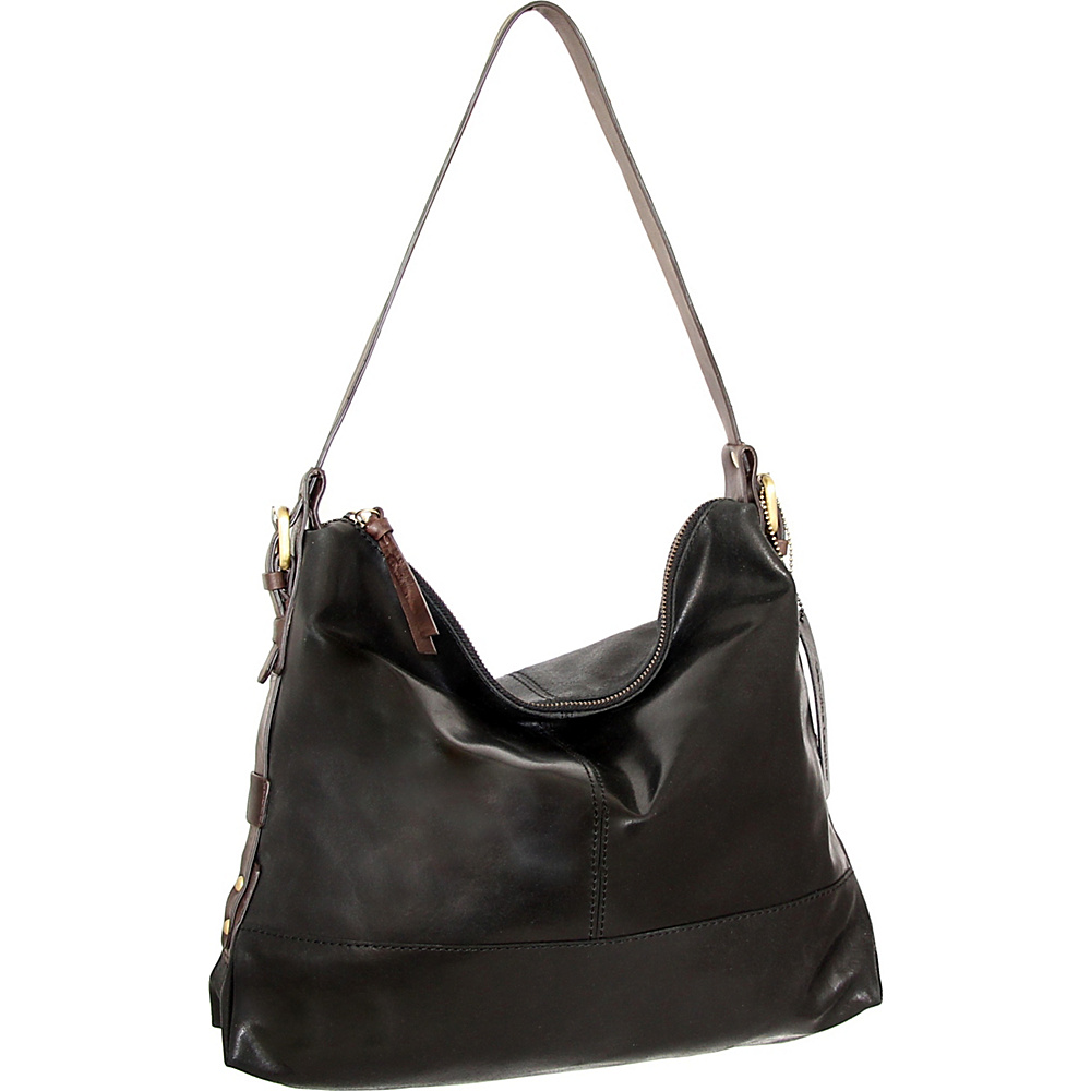 Nino Bossi Fatima Shoulder Bag Black - Nino Bossi Leather Handbags - Handbags, Leather Handbags