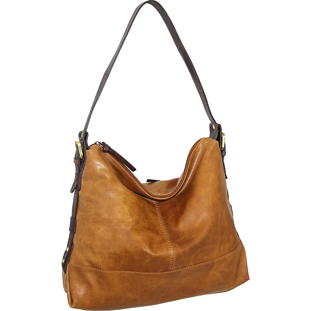 Nino Bossi Fatima Shoulder Bag Saddle - Nino Bossi Leather Handbags - Handbags, Leather Handbags