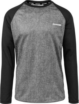 DAKINE Mens Dropout Long Sleeve Jersey XL - Carbon/Black - DAKINE Men's Apparel