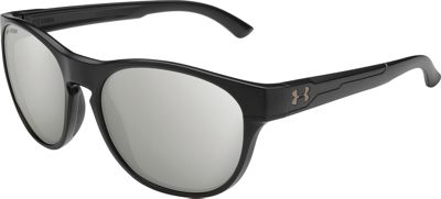 Under Armour Eyewear Glimpse Rl Sunglasses Storm Satin Black/Silver Polar Lens - Under Armour Eyewear Sunglasses