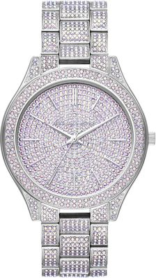 Michael Kors Watches Womens Slim Runway Stainless-Steel a...