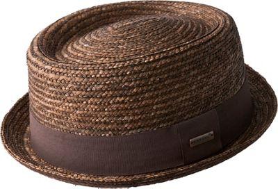 Wheat Braid Porkpie S - Tan - Kangol Hats/Gloves/Scarves