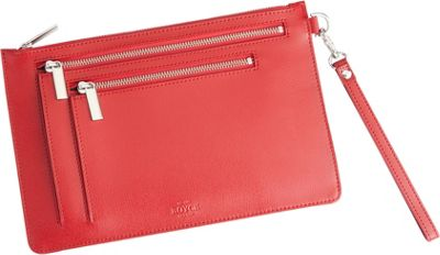 Image of Royce Leather RFID Blocking Cross Body Bag Red - Royce Leather Leather Handbags