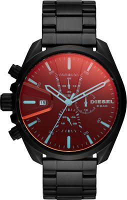 Diesel Watches Men's MS9 Chronograph Black Stainless Stee...