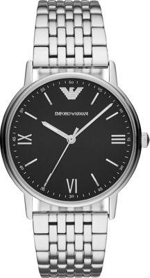 Emporio Armani Men's Three-Hand Stainless Steel Watch Sil...