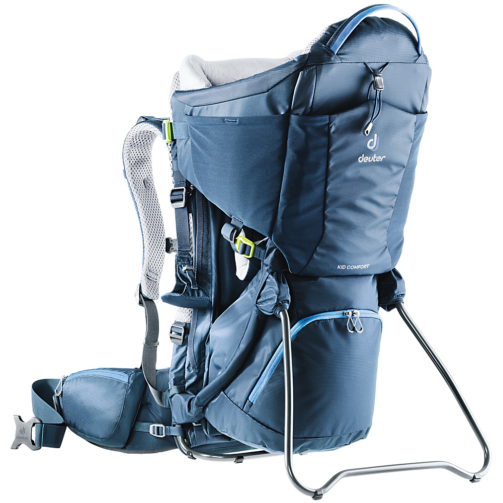 Deuter Kid Comfort Kid Carrier Midnight - Deuter Baby Carriers Kid Comfort Kid Carrier Midnight. For parents looking for a safe child carrier that's very comfortable for both the kids and themselves in order to explore nature together.