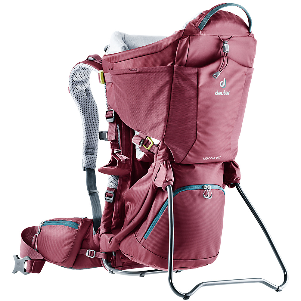 Deuter Kid Comfort Kid Carrier Maroon - Deuter Baby Carriers Kid Comfort Kid Carrier Maroon. For parents looking for a safe child carrier that's very comfortable for both the kids and themselves in order to explore nature together.