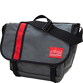 Dana's Messenger Bag - Medium Grey/Red
