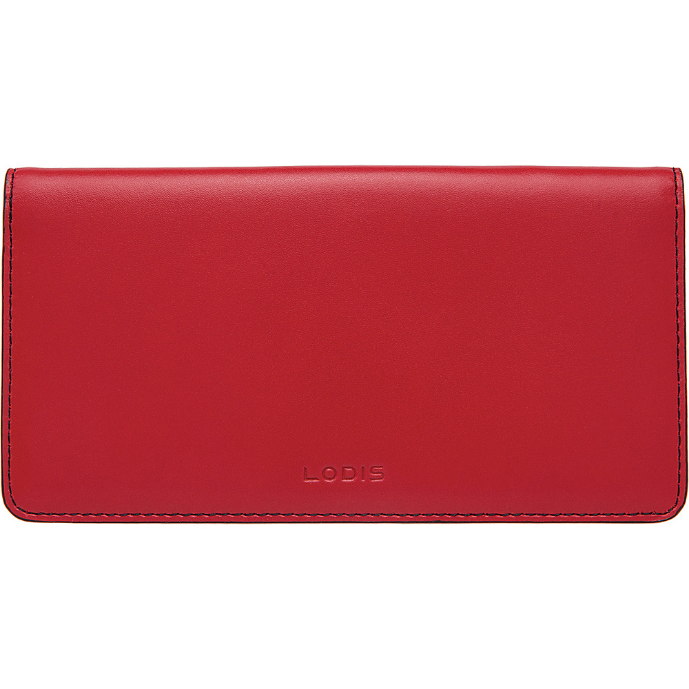 Lodis Audrey Simple Checkbook Cover - Red - Women's SLG, Women's Wallets